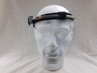 A sensor fitted to a dummy head